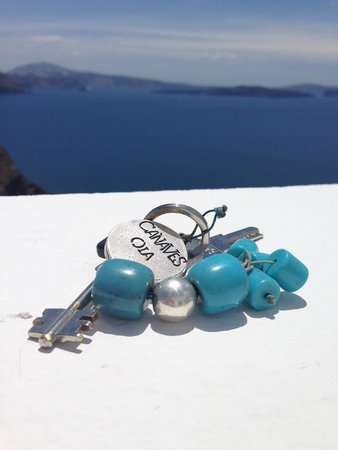 Canaves Oia Hotel : the gorgeous keys!