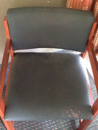 Days Inn Charleston Airport Coliseum: Old stained nasty chairs in the rooms at Days Inn RM 221!