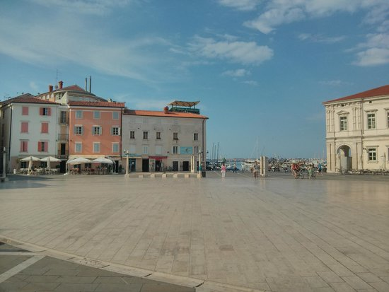 Hotel Tartini (Orange coloured building)