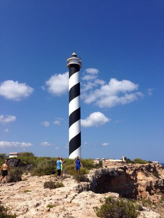 Portinatx Beach Club Hotel: Mountain Bike trip to Portinatx lighthouse with Stani