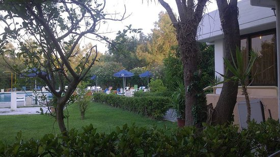 Livadi Nafsika Hotel: jardin vers la piscine