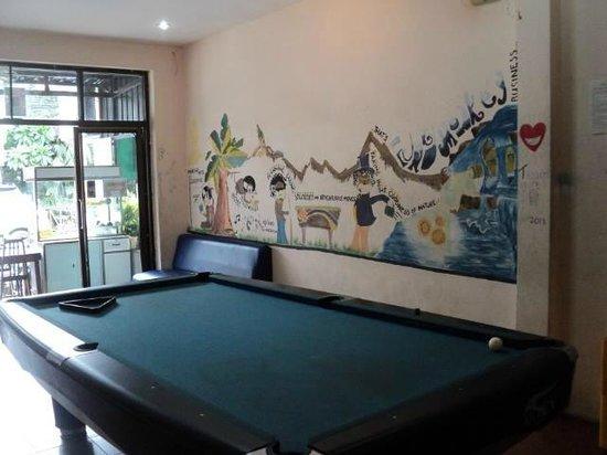 Funky Monkey Hostel : Snooker table