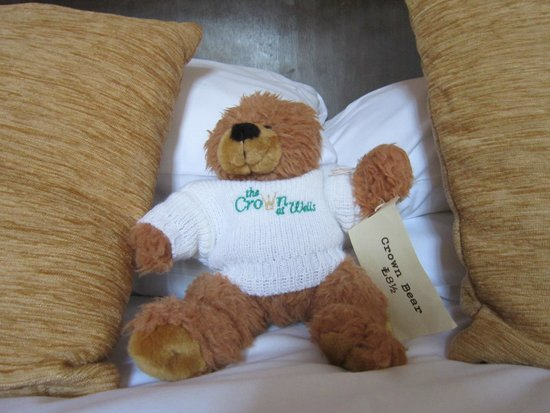 The Crown at Wells: Crown teddy bear £8.50.