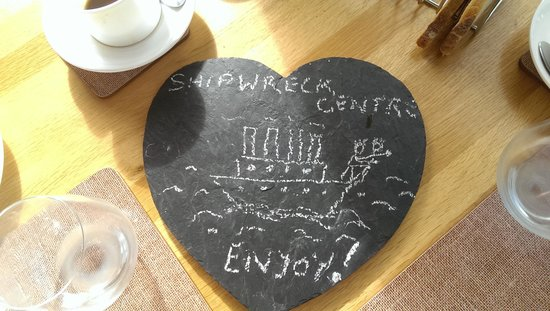 The Lookout Guesthouse : Our Breakfast Message :-)