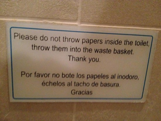 Aranwa Sacred Valley Hotel & Wellness: That's what it says in the toilet!