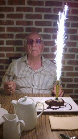 Toast Cafe Bar & Grill Restaurant Blackpool : Happy birthday