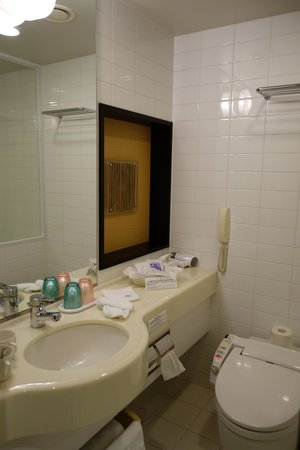 JR Tower Hotel Nikko Sapporo: very dated bathroom