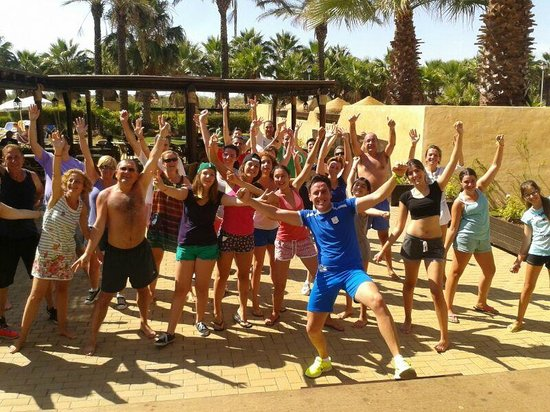 IBEROSTAR Isla Canela Hotel: Clase de zumba