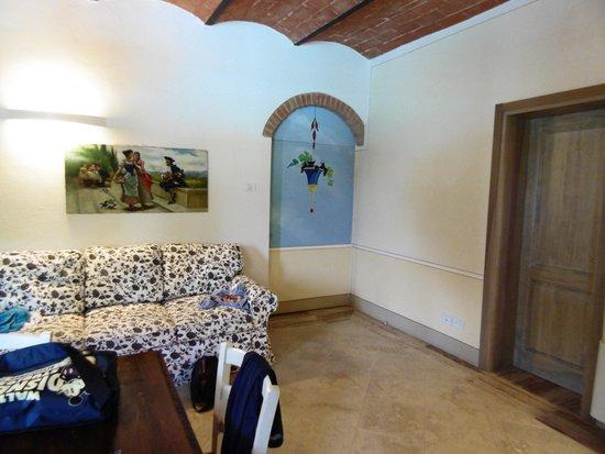 Poderi Arcangelo Agriturismo Farmhouse : De keuken met zetel