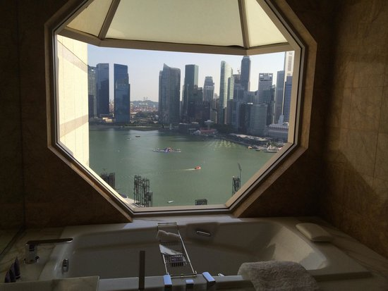 The Ritz-Carlton, Millenia Singapore: View from bathroom