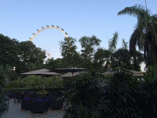 The Ritz-Carlton, Millenia Singapore: View of singapore flyer from hotel grounds