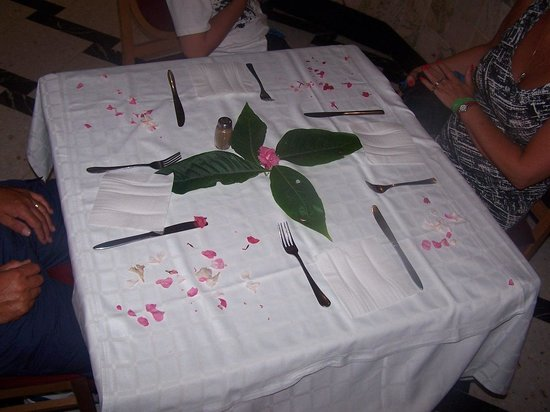 Soviva Resort : another one of our tables that was decorated for us