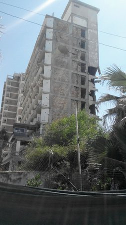 Red Bus Cyprus: Hotel bombarded