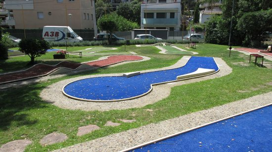 Platja d'Aro, Spanyol: The new minigolf course at Lobs