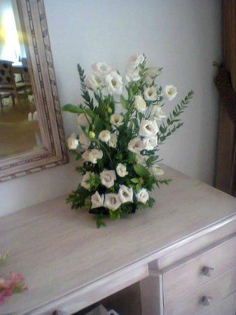 Hasdrubal Thalassa & Spa: fleurs dans la chambre pour mon anniversaire