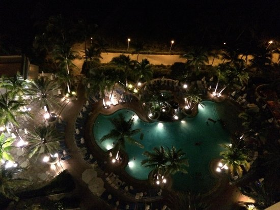 Loews Miami Beach Hotel: Pool at night