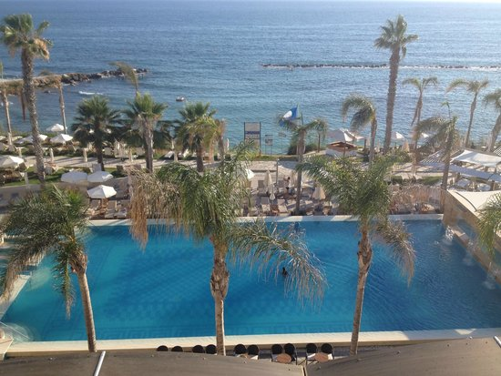 Alexander The Great Beach Hotel: View from my third floor room, no 339! No balcony but still great!