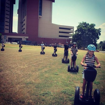 Holiday Inn Austin-Town Lake: Team Building with Segways is offered in the field next to the hotel by Gliding Revolution!