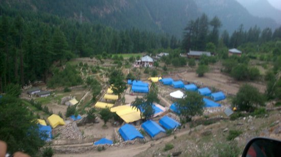 Kinner Camp Sangla : View of the camp site from top