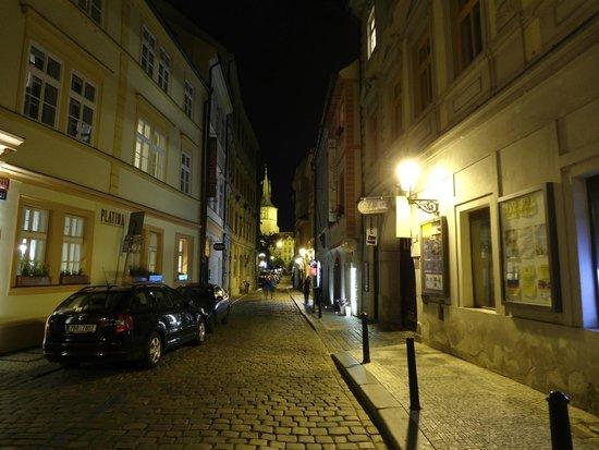 Hotel & Spa Carolline: street Karoliny Svetle with hotel.-Prague centrum