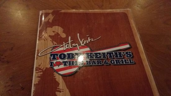 Toby Keith's I Love This Bar & Grill: Menu
