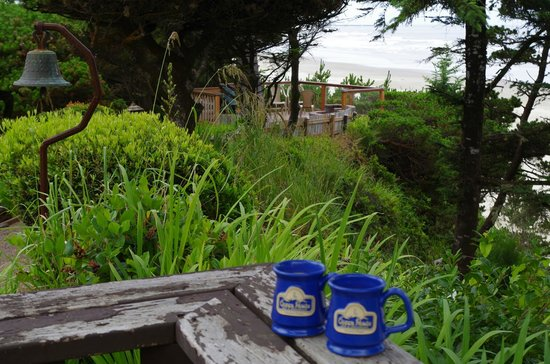Ocean House Bed and Breakfast : Coffee in the morning at the beautiful terrace