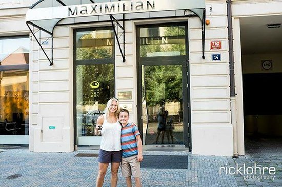 Front of Maximilian Hotel Prague