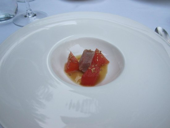 La Fabula: Watermelon with light teriyaki sauce