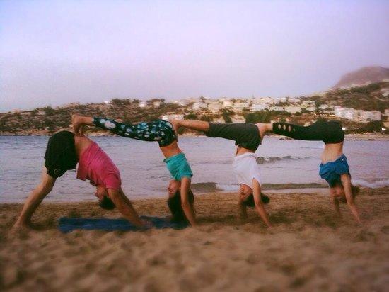 Siddhi Yoga: Acro yoga by Almyrida beach