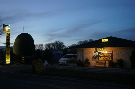 Aorangi Motel: front of hotel