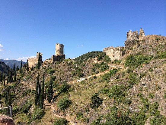 Chateaux de Lastours: Vu du 1er château