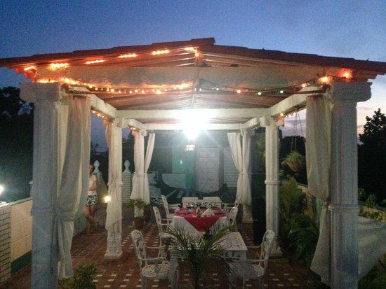Hostal Jose y Kirenia: Cena en la terraza