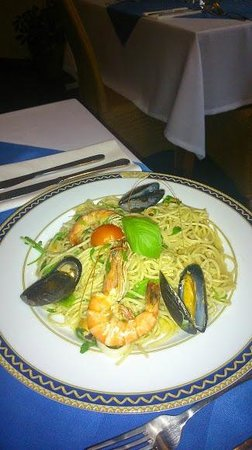 Corse: Spaghetti with seafood