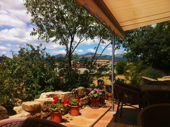 LA ERA DE CONTE, Hotel, Restaurante: Partial view of Pyrenees from hotel terrace
