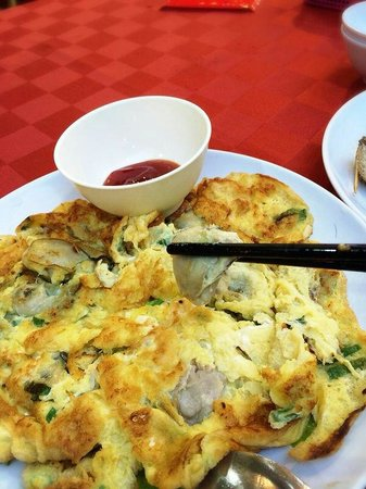 Suang Tain Seafood Restaurant: Huge oyster and egg.