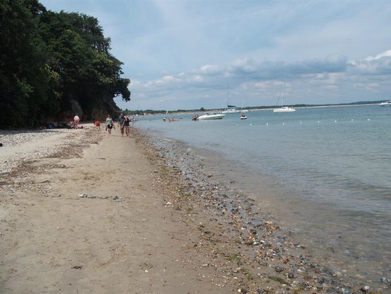 Studland beach and Nature Reserve: Centre of South beach looking left