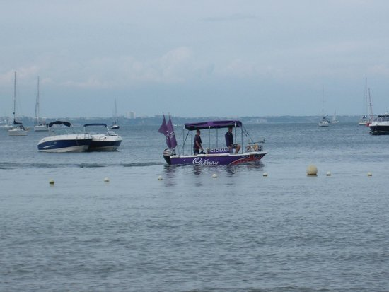 Studland beach and Nature Reserve: If you hear the 'Benny Hill' theme, look out for this Ice Cream boat...