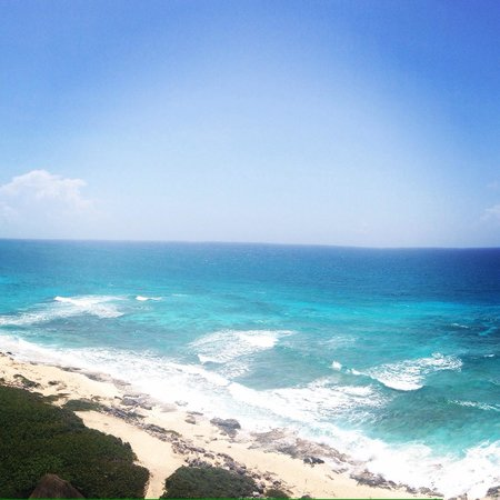 Punta Sur Eco Beach Park : View from lighthouse
