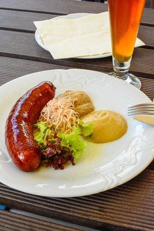 The Strahov Monastic Brewery: The venison sausage