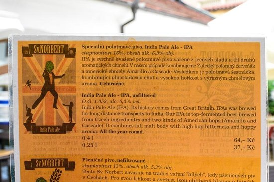 The Strahov Monastic Brewery: Description of their IPA