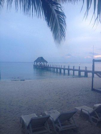 Secrets Aura Cozumel: Pier in front of resort