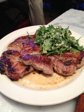 The Purple Pig: pork steak with nduja sausage and honey - amazing!