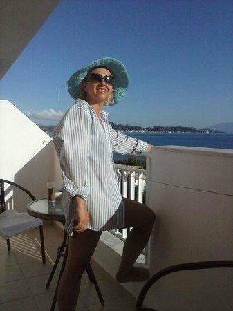 Agoulos inn : widok na port w Zakynthos