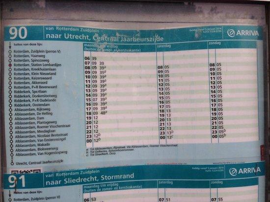 Mühlenanlagen in Kinderdijk-Elshout: 90往路