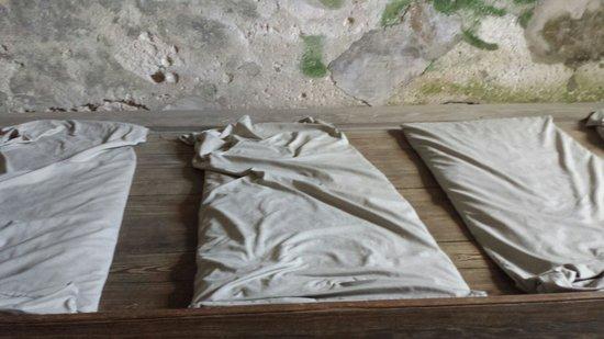 Castillo de San Marcos: Soldier's bed