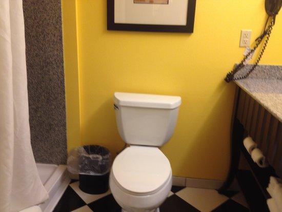 Evangeline Downs Hotel : toilet in bath.