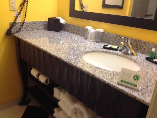 Evangeline Downs Hotel : sink in bath.