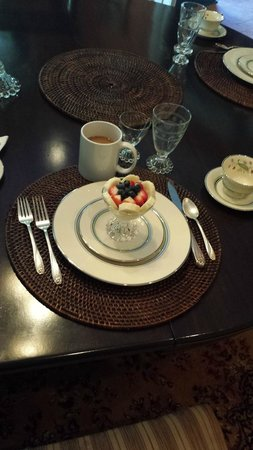Bellamy Manor & Gardens Bed and Breakfast: Red White & Blue Breakfast on July 4