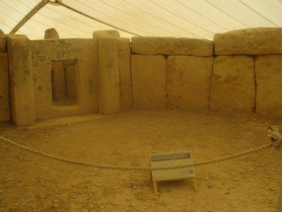 Templos Megalíticos Mnajdra: Una delle sale