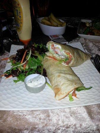 Esterel Plage : wrap norvégien.... délicieux et super copieux !